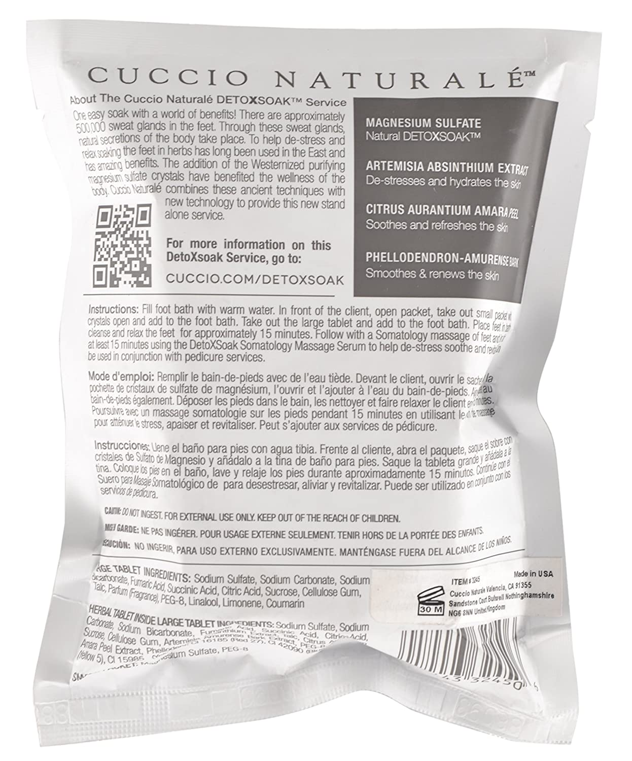 Amazon.com: Cuccio Naturale DetoxSoak, 6.3 oz - Individual Packet: Health & Personal Care