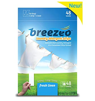 amazon com breezeo laundry detergent strips fresh linen scent 48