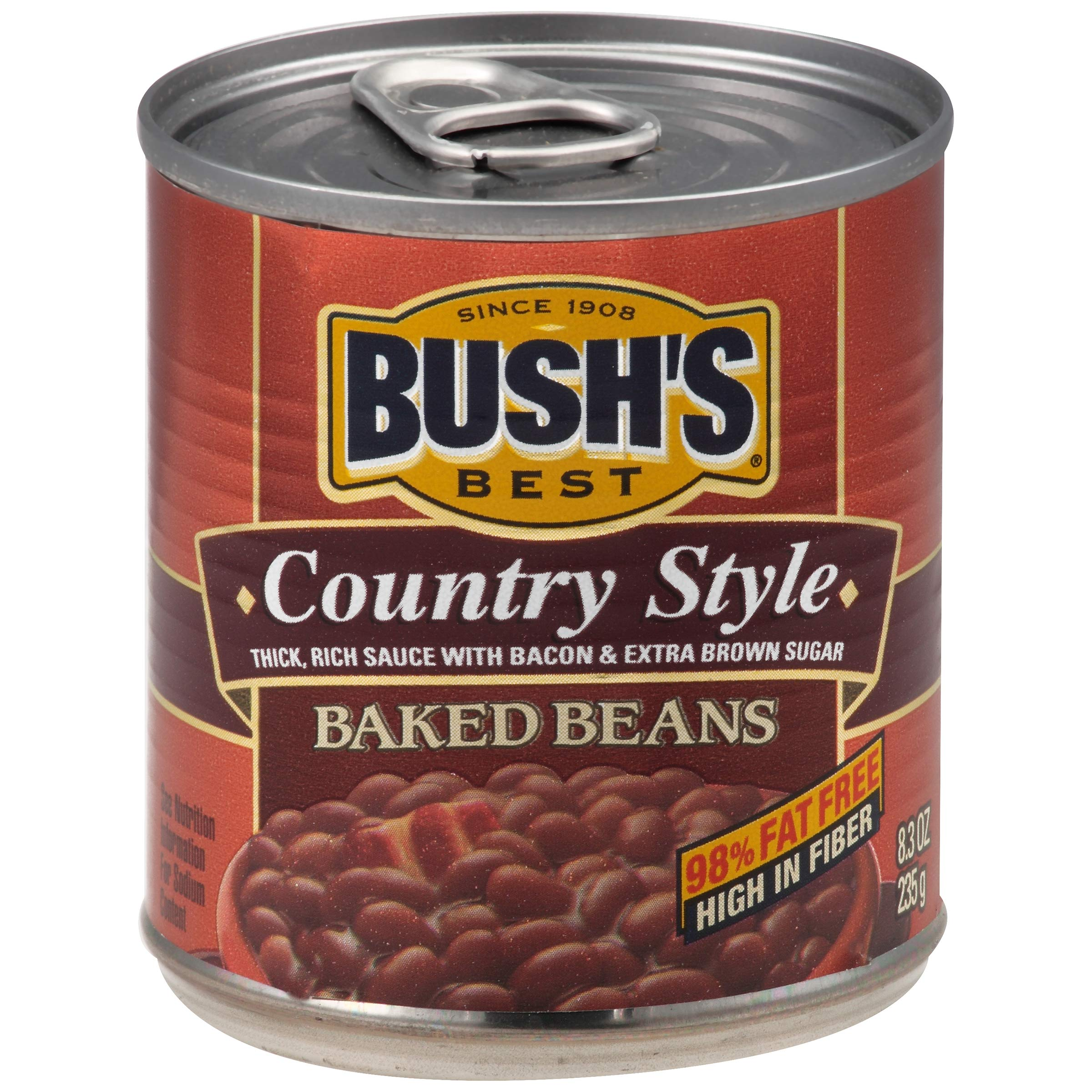 Bushs Best Country Style Baked Beans, 8.3 oz (12 cans)