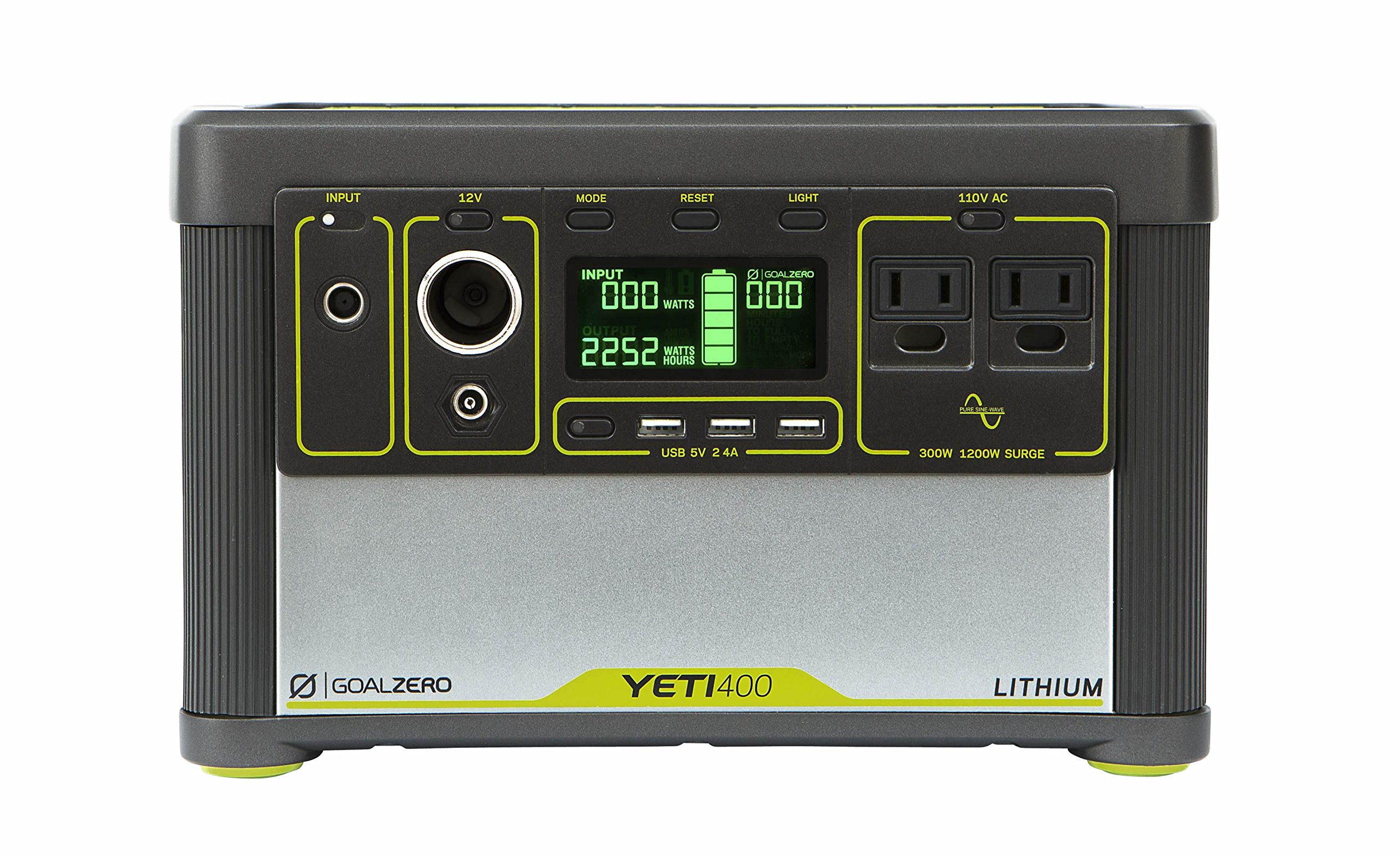 Goal Zero Yeti 400 Lithium Portable Power Station, 428Wh Rechargeable Generator and Backup Power Source with 300 Watt (1200 Watt Surge) AC inverter, USB, 12V Outputs by Goal Zero