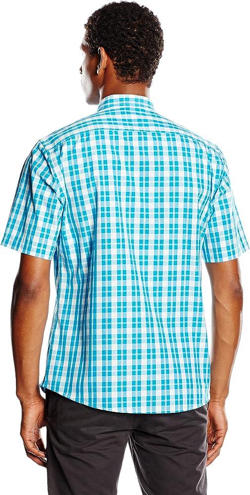 Spagnolo Camisa Hombre Turquesa M (03): Amazon.es: Ropa y accesorios