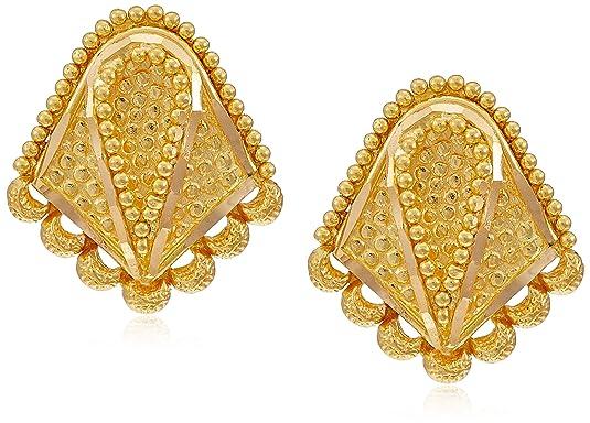 Joyalukkas 22KT Yellow Gold Stud Earrings for Girls Earrings
