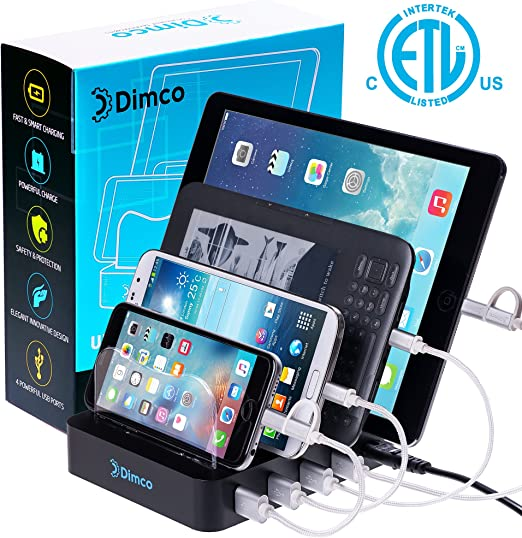 USB Fast Charging Station Fast Charging Dock for Multiple Devices Apple iPhone iPad Smart Charging Station Android 4 Port Multiple Charger