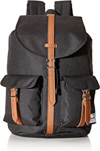 Herschel Supply Co. Dawson Backpack, Black/Tan Synthetic Leather,One Size (10233-00001-OS)