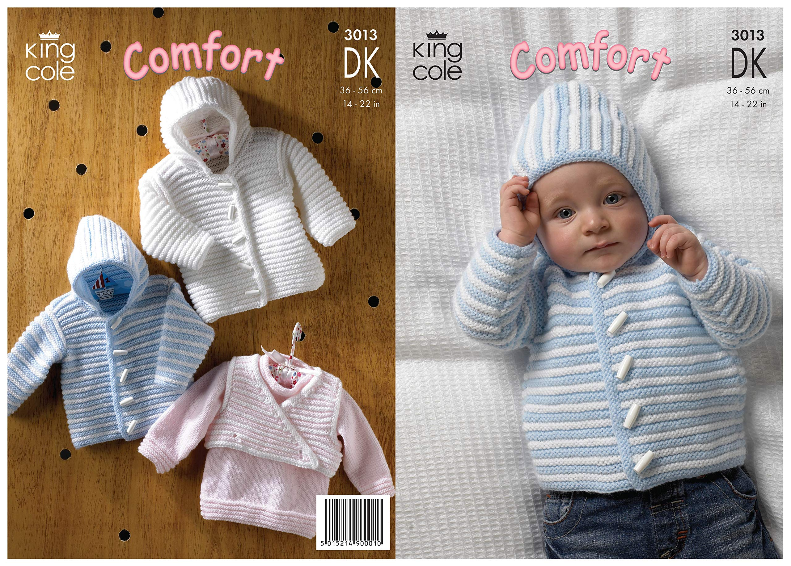 2e61206a8 King Cole Baby Comfort DK pattern 3013 14