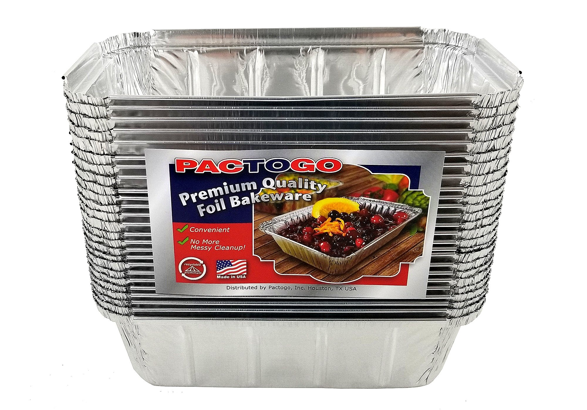 Pactogo 1 1/2 lb. IVC Disposable Aluminum Foil Loaf Bread Pan w/Board Lid (8'' x 4.1'' x 2.2'') - Heavy Duty Made in USA (Pack of 50 Sets) by PACTOGO (Image #6)