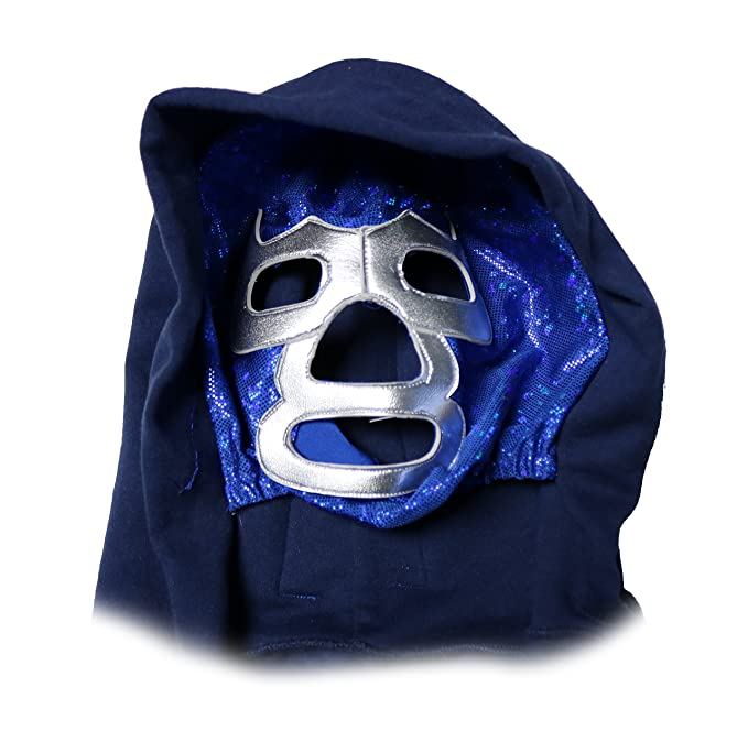 Amazon.com : Heroes Of Lucha Libre Blue Demon Hoodie with Integrated Mask (Size L) : Sports & Outdoors