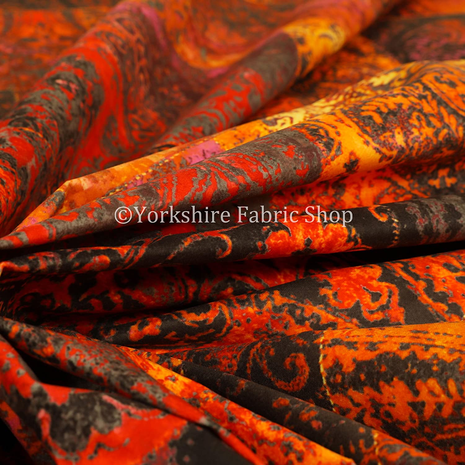 Sold By The 10 Metres Fabric New Soft Printed Velvet Patchwork Damask Traditional Pattern Grey Upholstery Fabric