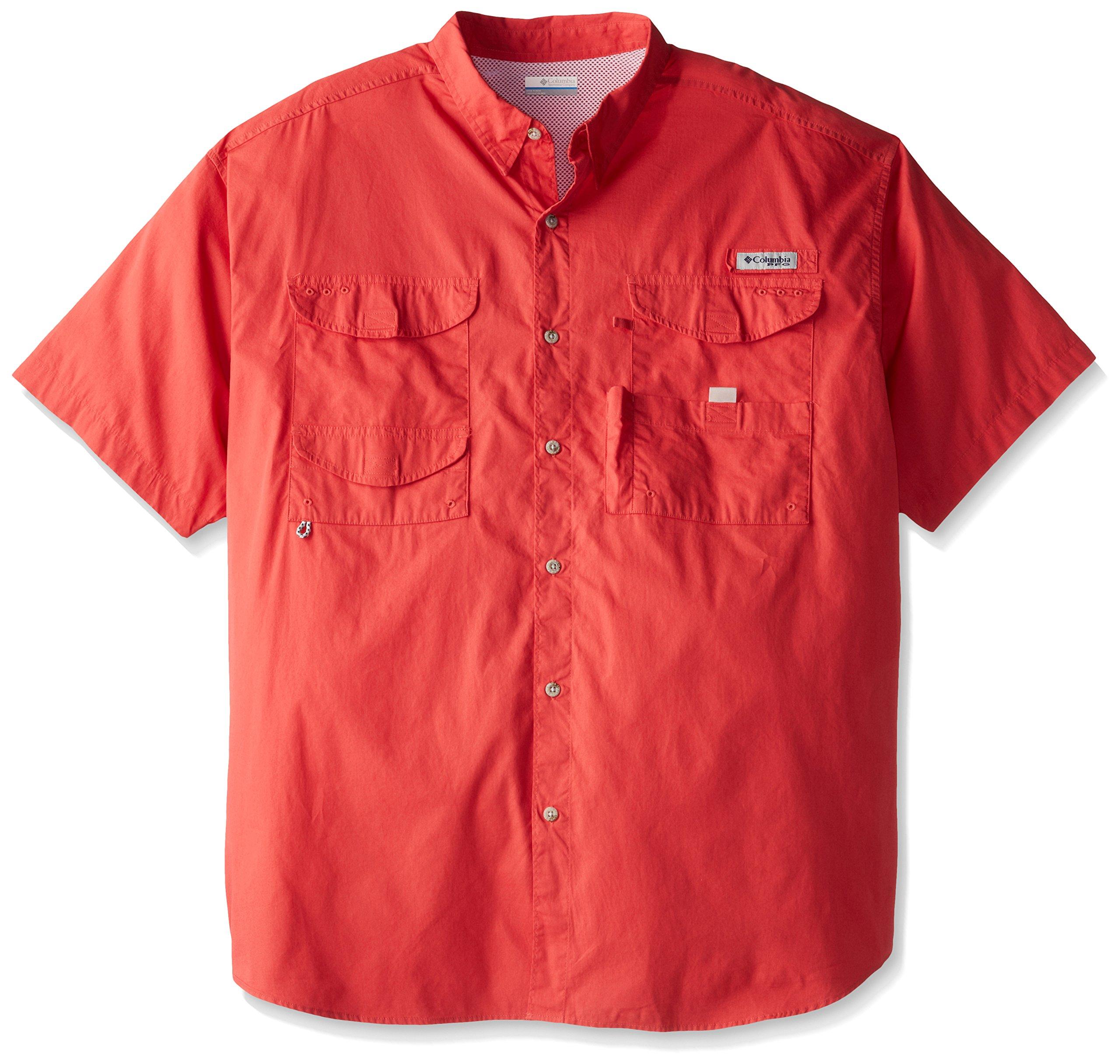 Columbia Men's Bonehead Short Sleeve Shirt, Sunset Red, XX-Large by Columbia