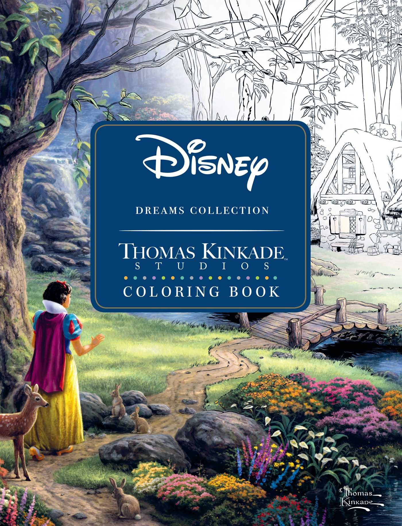 Amazon Disney Dreams Collection Thomas Kinkade Studios Coloring Book 0050837360075 Books