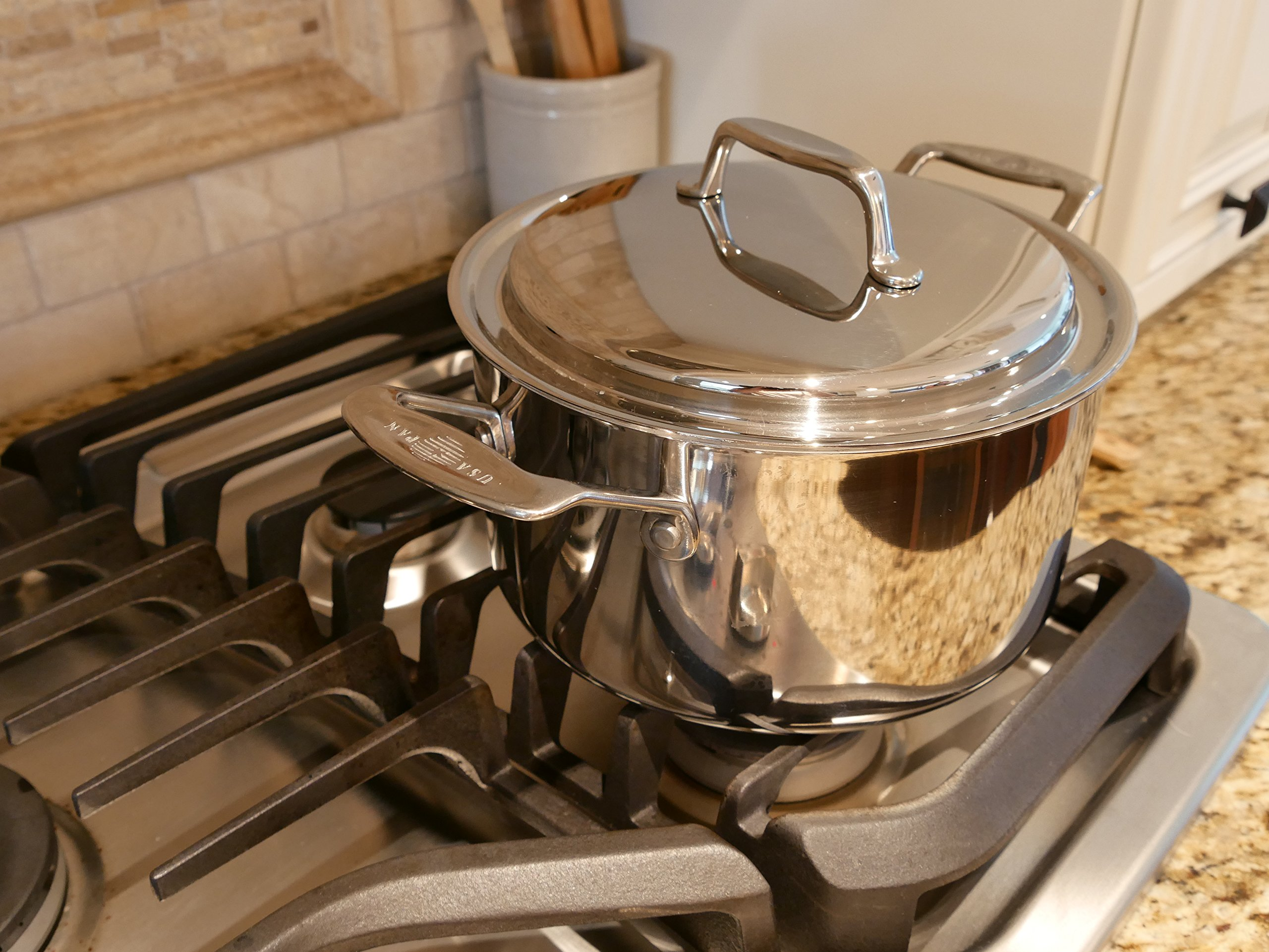 USA Pan Cookware 5-Ply Stainless Steel 8 Piece Cookware Set, Oven and Dishwasher Safe, Made in the USA by USA Pan (Image #5)
