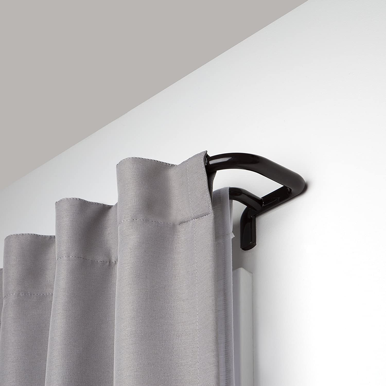Wrap Around Bronze /& Twilight Single Curtain Rod Set Umbra Twilight Double Curtain Rod Set Wrap Around Design is Ideal for Blackout or Room Darkening Panels 48-88 Bronze 48-88