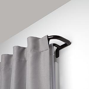 Umbra Twilight Double Rod Set – Wrap Around Design is Ideal for Blackout Room Darkening Curtains, 48 to 88 Inch, Auburn Bronze, 88-Inch
