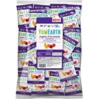 YumEarth Organic Vegan Fruit Snacks, 0.7 Ounce Snack Packs, 43 pack (Pack of 1) - Allergy Friendly, Non GMO, Gluten Free, Vegan (Packaging May Vary)
