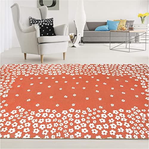 Superior Wildflower Area Rug, 3 x 5 , Coral