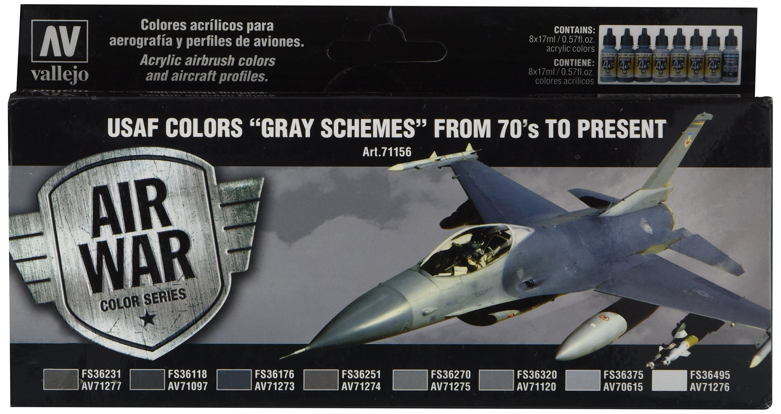 Vallejo Usaf Colors 70S To Now Model, 17ml