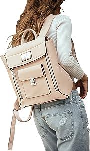 "Sandy Lisa Amalfi Notebook 13"" Carrying Backpack, Beige (SLAML-BPBH-13)"
