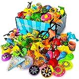 S SWIRLLINE Party Favors Kids Pinata Filler- 122 PCS Carnival Prizes Toys Bulk Assortment - Boys Girls Birthday Easter Egg Fi