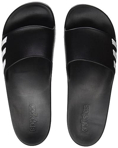 reputable site 0190d 1f06e adidas - Aqualette W - BA8762 - Color White-Black - Size 6.5