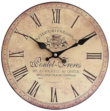 Perla PD Design Orologio da parete orologio da cucina Design Vintage Pontet  Freres, diametro 28 cm