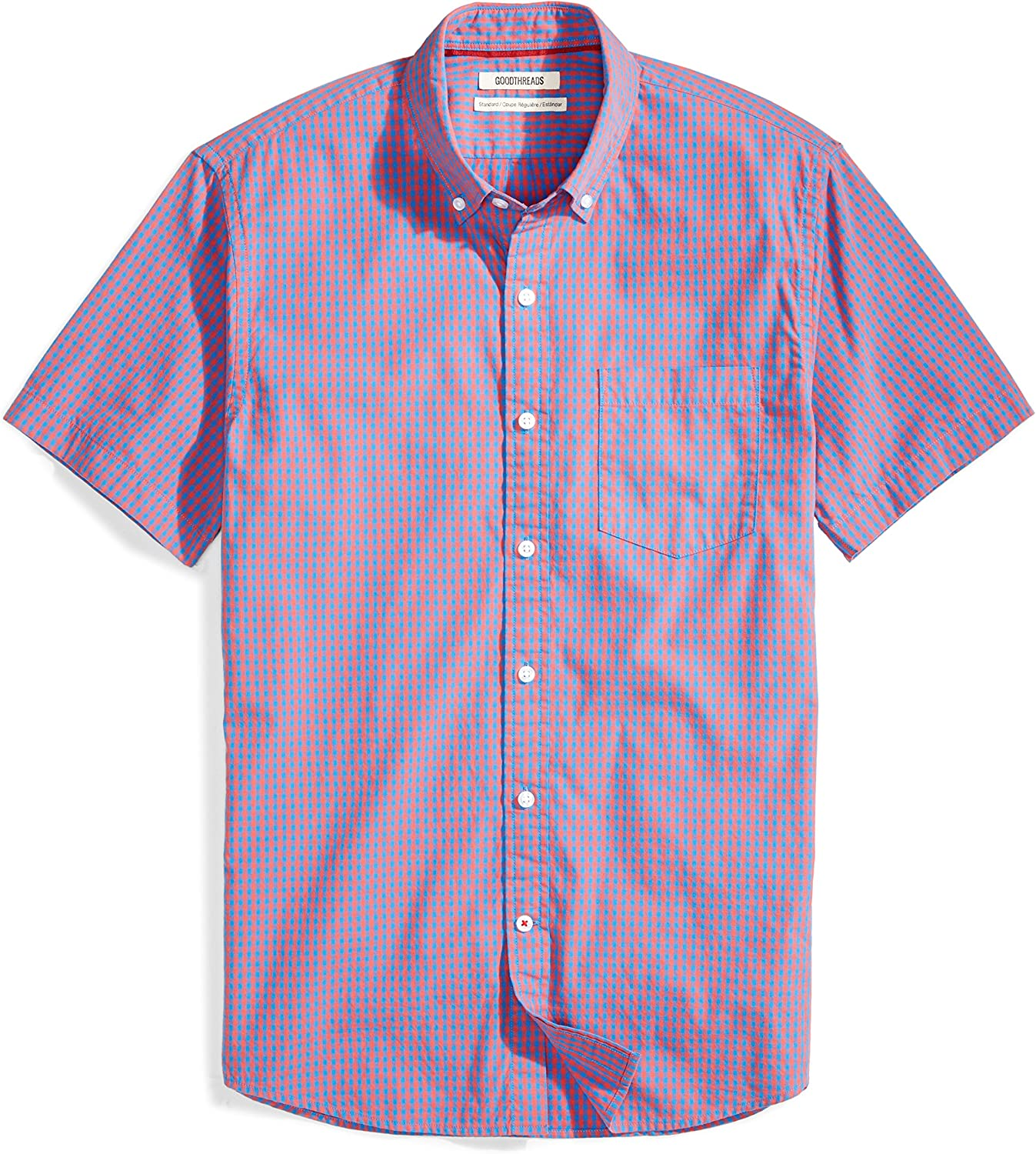 Mens Shirt Mens Fashion Standard-fit Short-Sleeve Dress Shirt