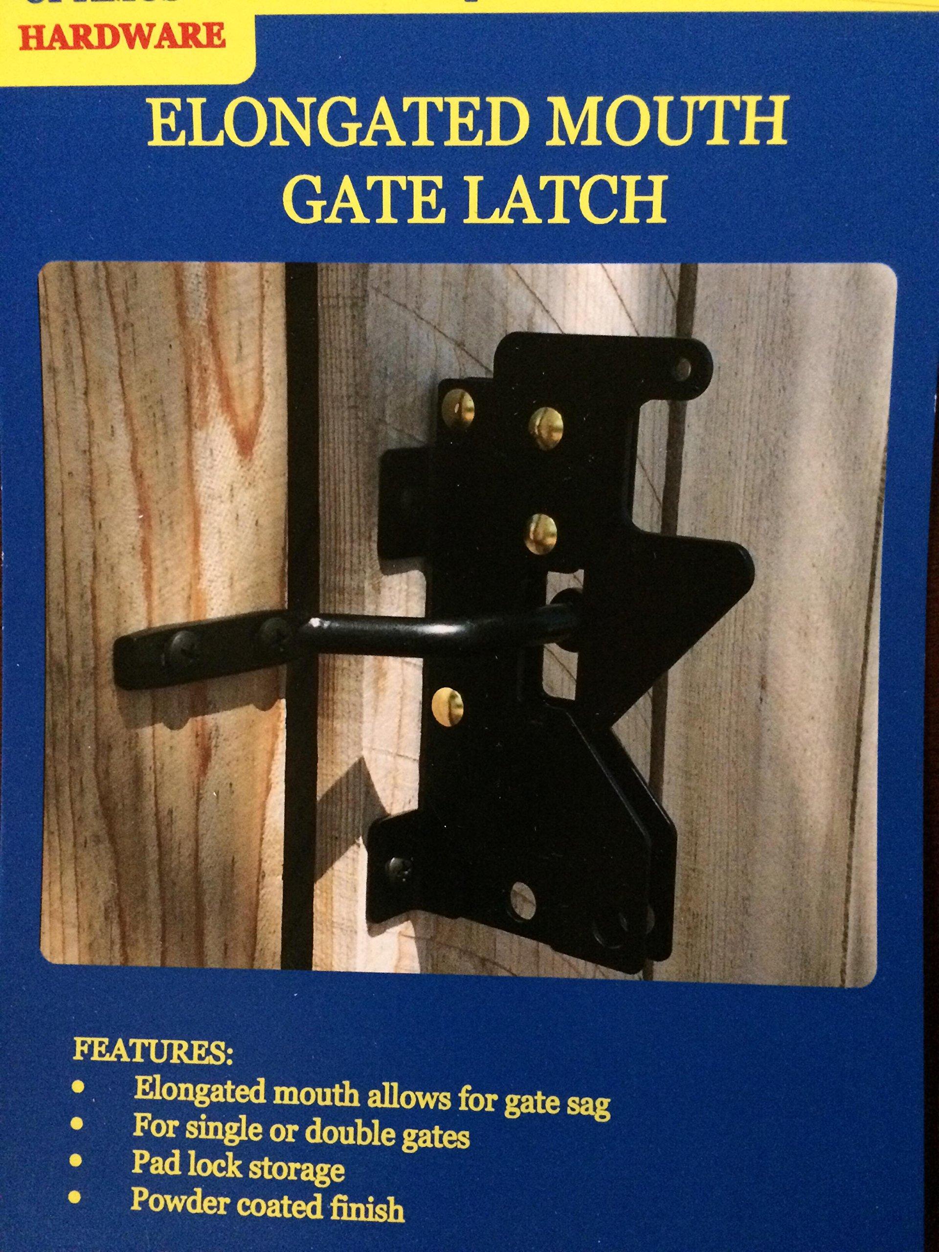 Elongated Mouth Gate Latch