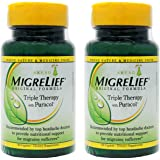 MigreLief Original Formula Triple Therapy with Puracol Caplets 60 Caplets (Pack of 2)