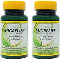 MigreLief Original Formula Triple Therapy with Puracol Caplets 60 Caplets (Pack of 2) …