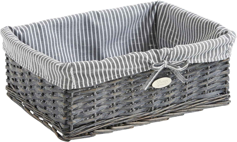 Vimini VonHaus/-/Set di cestini in Vimini con Set of 3 Baskets Grey