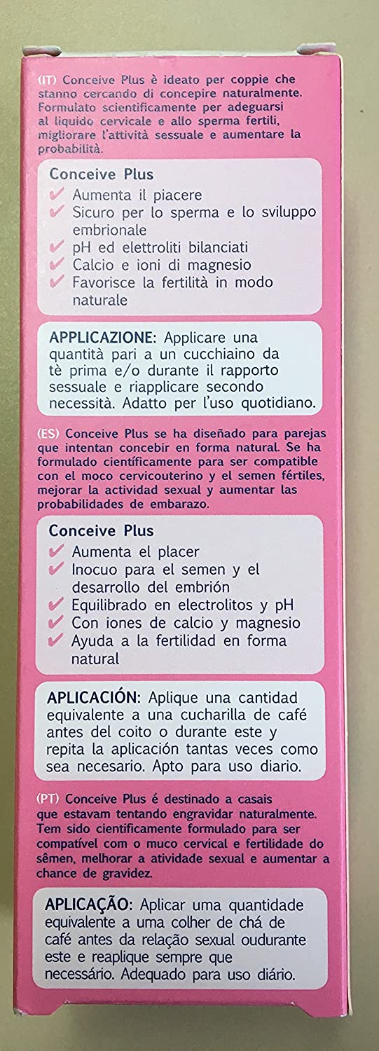 Pack 2 unidades Conceive Plus tubo 75ml: Amazon.es: Salud y cuidado personal