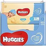 Huggies Pure Baby Wipes -  Pack of 10 (10 x 56 Packs, Total 560 Wipes)