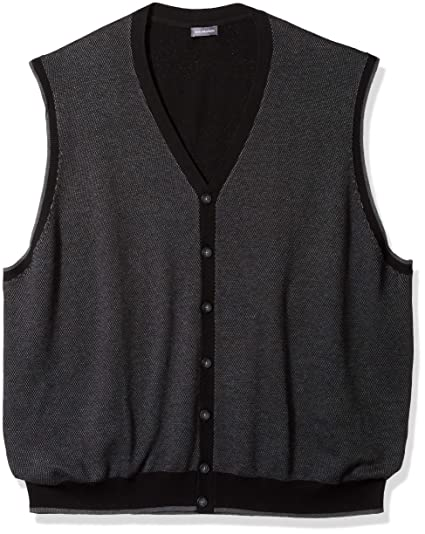 Amazoncom Van Heusen Mens Big And Tall Button Front Sweater Vest