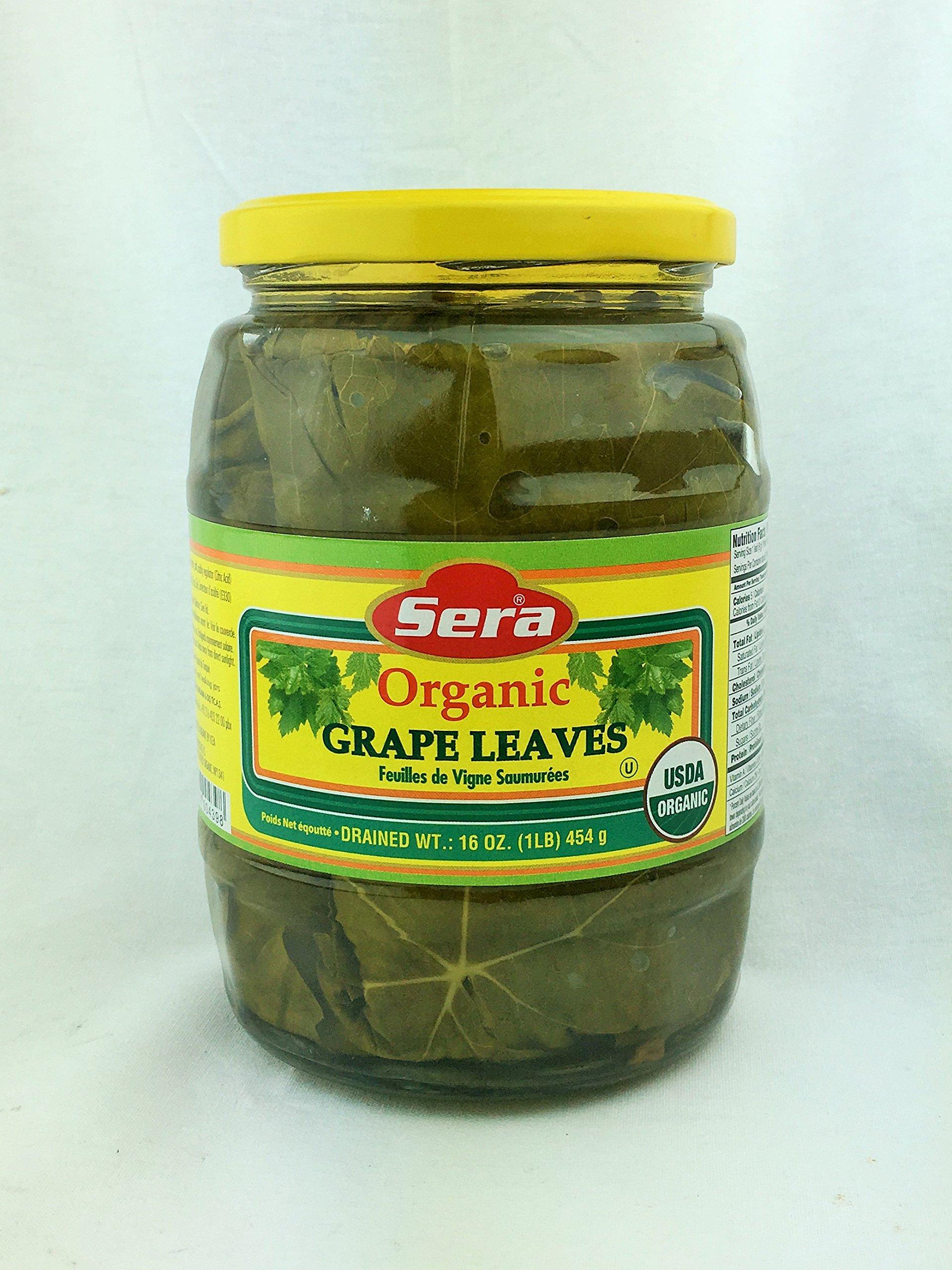 Sera Organic Grape Leaves for Stuffing Turkish 1 Lb / 454 Gr