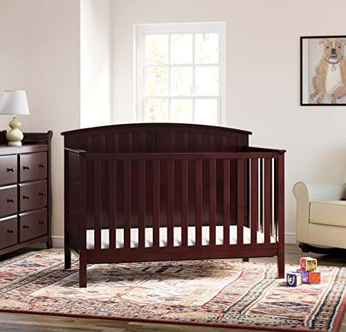 Storkcraft Steveston 4-in-1 Convertible Crib, Espresso, Easily Converts to Toddler Bed Day Bed or Full Bed, Three Position Adjustable Height Mattress, Some Assembly Required Mattress Not Included