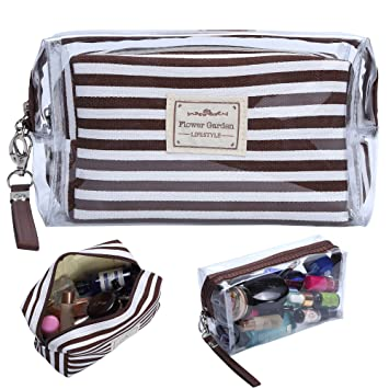 2b4664b0ad29 Amazon.com : HOYOFO Women's Cosmetic Bags Travel Makeup Pouch Daily ...