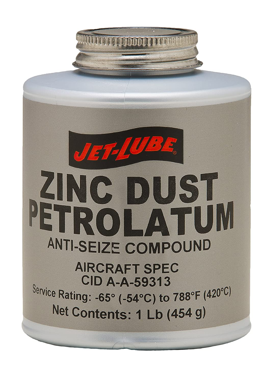 Jet-Lube Zinc Dust Petrolatum Anti Seize Compound, 1 lbs Plug Top Can 27003