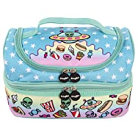 FRINGOO Multi-Compartment Kids Lunch Bag Thermal Insulated Cooler Bag School Nursery Double Decker Food Snacks Carrier