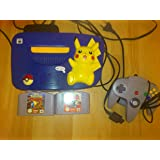 Nintendo 64 System - Video Game Console - Pikachu Bundle