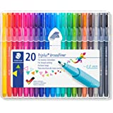 STAEDTLER broadliner triplus, ergonomic triangular shape, Dry Safe, water-based ink, washes out of many textiles, line width