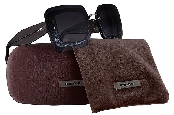2441cd30e16 Amazon.com  Miu Miu MU01RS Sunglasses Grey Glitter Crystal w Blue Gradient  Lens UES4R2 MU 01RS For Women  Clothing