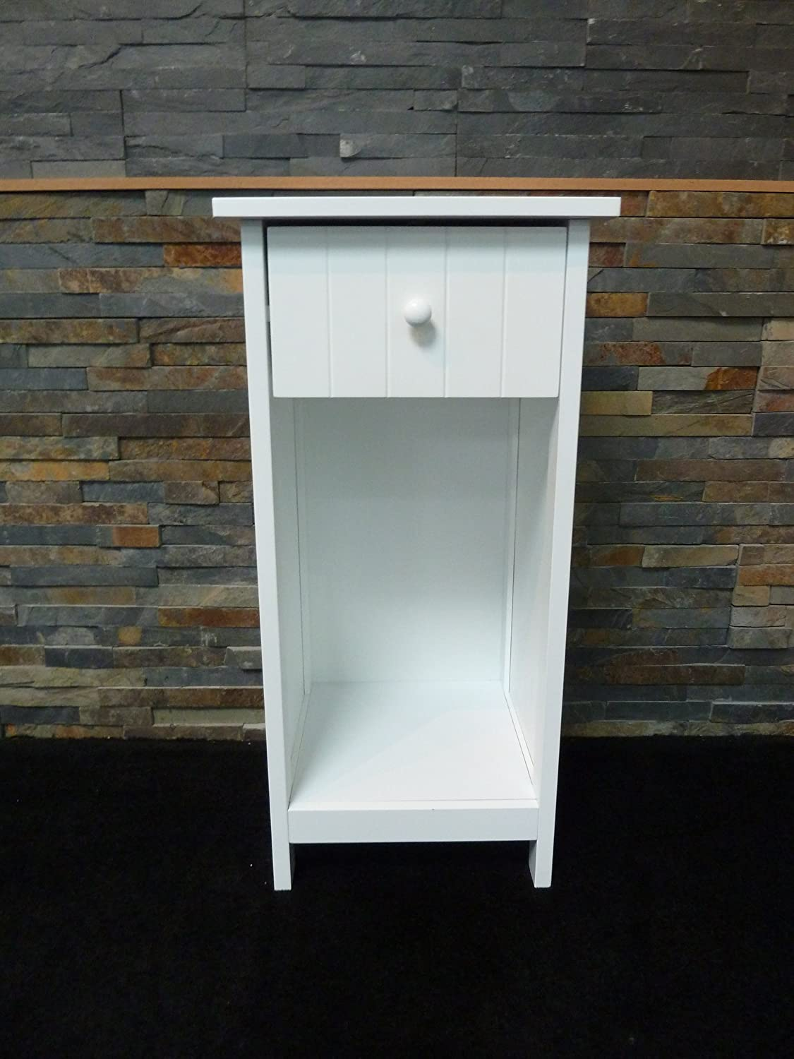 Exceptional WHITE WOODEN TELEPHONE TABLE TRADITIONAL COUNTRY STYLE STORAGE 1 DRAWER  SHELF: Amazon.co.uk: Kitchen U0026 Home