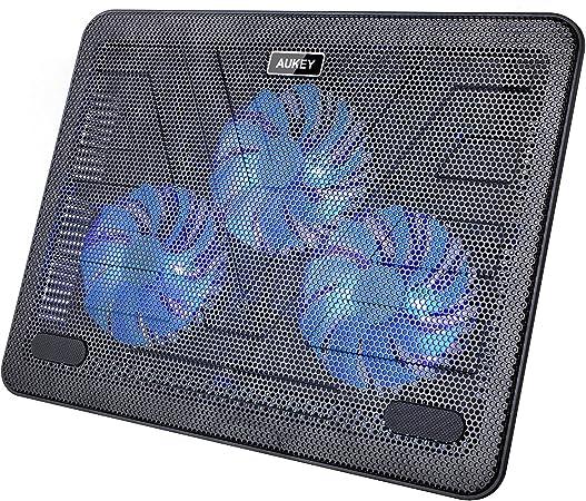 Aukey Laptop Kühler 12 17 Zoll 3 Lüfter Mit Leds 2 Computer Zubehör
