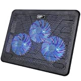 """AUKEY Laptop Cooling Pad 12""""-17"""" Ultra-Quiet Laptop Cooler with 3 Fans, 2 USB Ports Portable and Light Weight Cooling Stand (CP-R1)"""