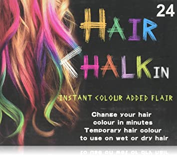 Amazon.com: Hunnt? 24 Colours Temporary Color Dye Hair DIY Nontoxic ...