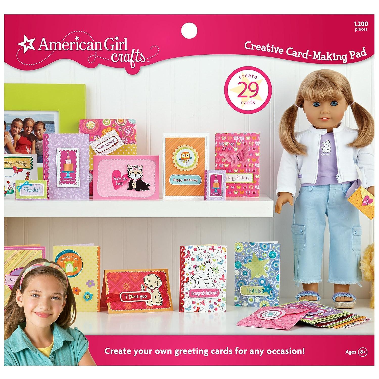 Amazon Card Making Part - 23: Amazon.com: American Girl Crafts Creative Card-Making Pad: Arts, Crafts U0026  Sewing