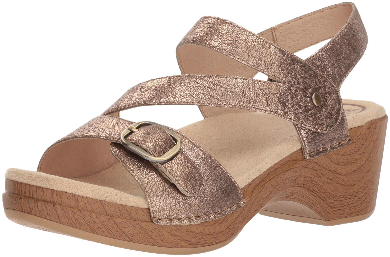 Dansko Women's Shari Flat Sandal, Gold Nappa, 41 M EU (10.5-11 US)