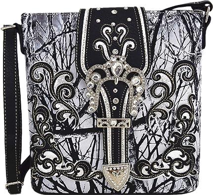 Womens Concealed Carry Camouflage Buckle Handbag Western Shoulder Bag For Women