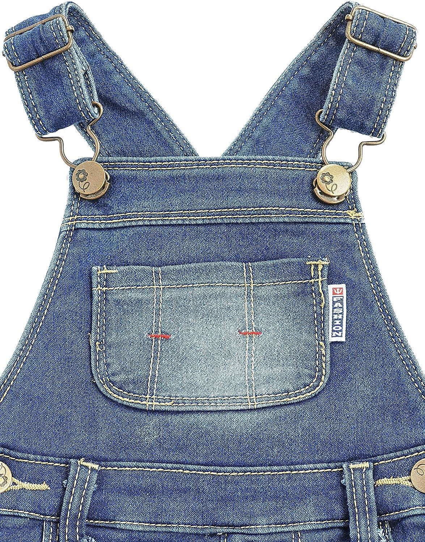 Kidscool Space Baby/&Little Boys Girls Big Bib Pocket Washed Cotton Denim Overalls