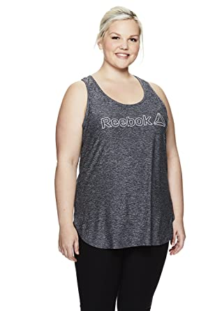 06810580afa41 Reebok Women s Plus Size Legend Performance Singlet Racerback Tank Top -  Legend Black Heather