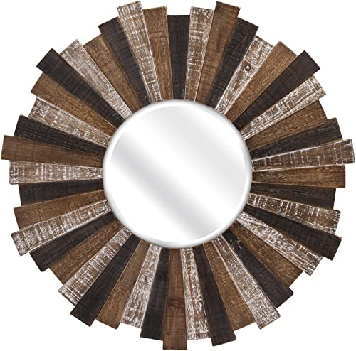 IMAX 88698 Wood Starburst Mirror